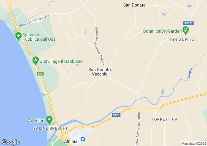 Map for Orbetello, Grosseto, Italy