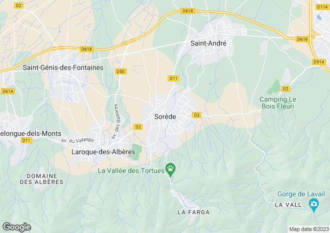 Map for Secteur: Sorède, Pyrenees-Orientales