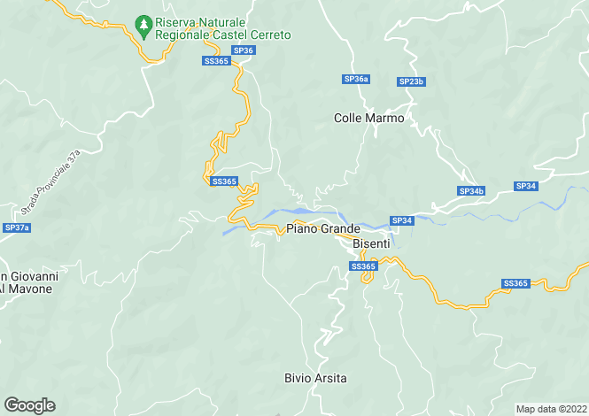 Map for Abruzzo, Teramo, Bisenti