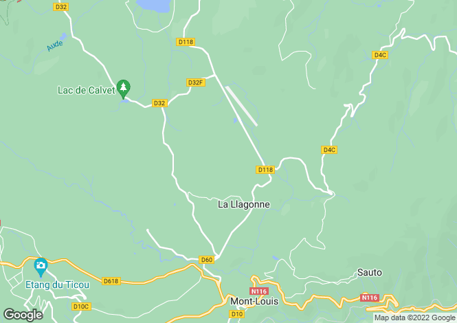 Map for LA LLAGONNE, Perpignan Area, Languedoc,