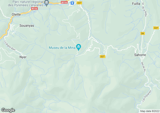Map for Languedoc-Roussillon, Pyrénées-Orientales, Escaro