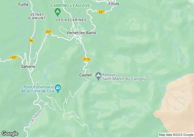 Map for Languedoc-Roussillon, Pyrénées-Orientales, Casteil