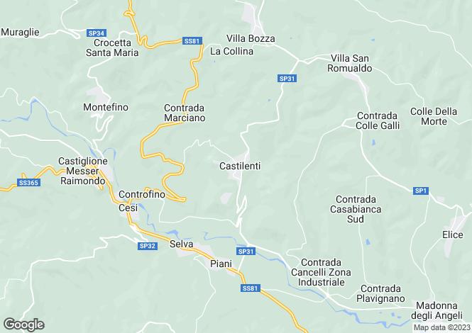 Map for Abruzzo, Teramo, Castilenti