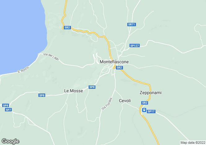 Map for Lazio, Viterbo, Montefiascone