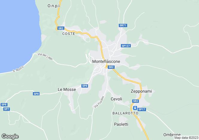 Map for Montefiascone, Viterbo, Lazio