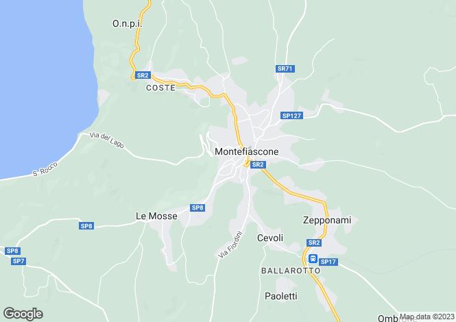 Map for Montefiascone, Latium, Italy