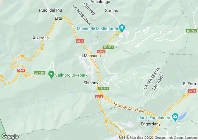 Map for La Massana