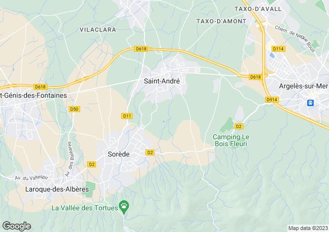 Map for Sorède, Pyrénées-Orientales, Languedoc-Roussillon