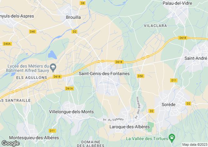 Map for Secteur: Saint-Genis-des-Fontaines, Pyrenees Orientales