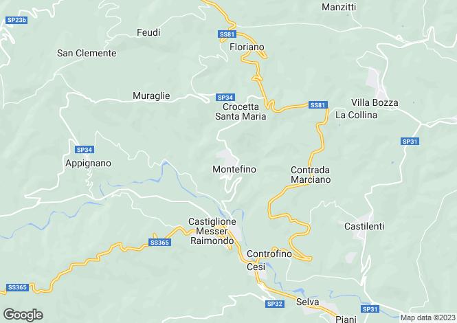 Map for Abruzzo, Teramo, Montefino