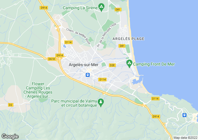Map for ARGELES SUR MER, Perpignan Area, Languedoc,