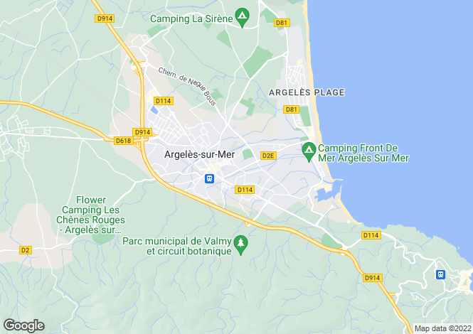 Map for argeles-sur-mer, Pyrénées-Orientales, France