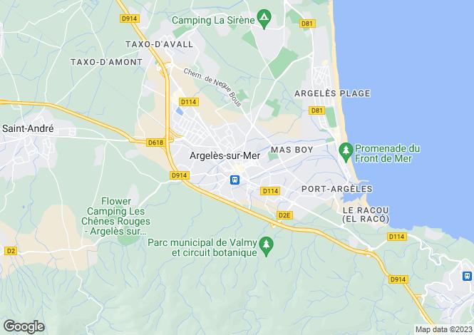 Map for Argeles-Sur-Mer, Languedoc-Roussillon, 66700, France