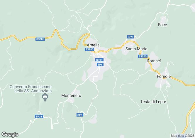 Map for Strada Amelia Giove, Amelia, 05022, Italy