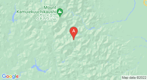 map of Mount Yaoromappu (Japan)