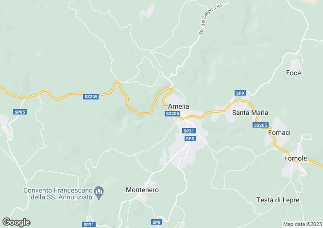 Map for Amelia, Terni, Umbria