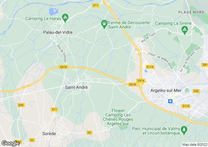 Map for st-andre, Pyrénées-Orientales, France