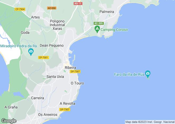 Map for Santa Uxía de Ribeira, A Coruña, Galicia