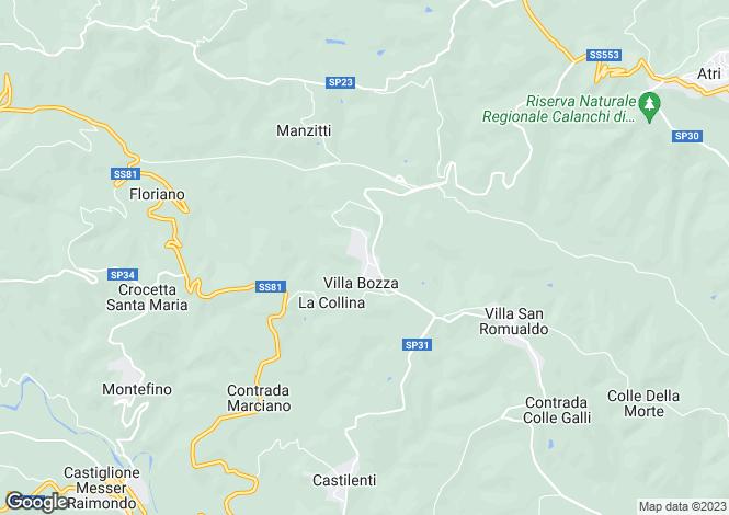 Map for Abruzzo, Teramo, Villa Bozza
