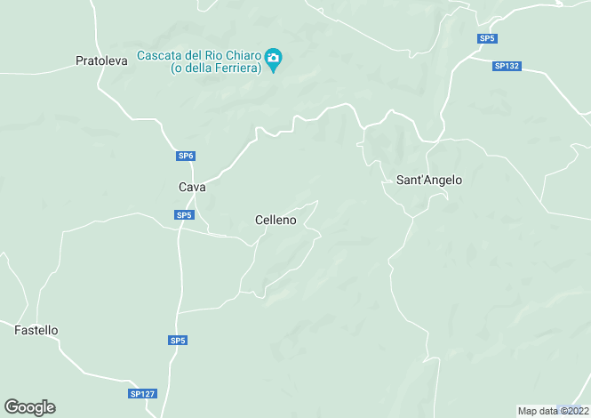 Map for Lazio, Viterbo, Celleno