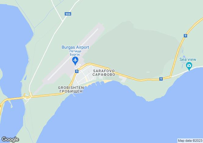 Map for Sarafovo, Burgas
