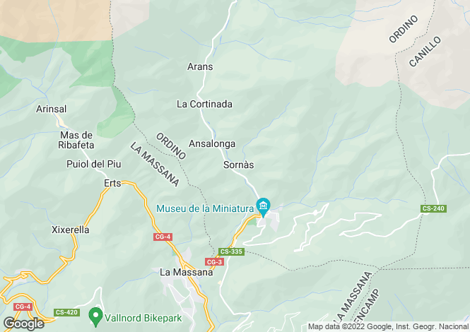 Map for Ordino