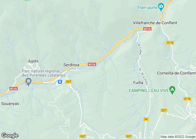 Map for serdinya, Pyrénées-Orientales, France