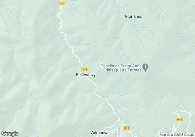 Map for Languedoc-Roussillon, Pyrénées-Orientales, Baillestavy