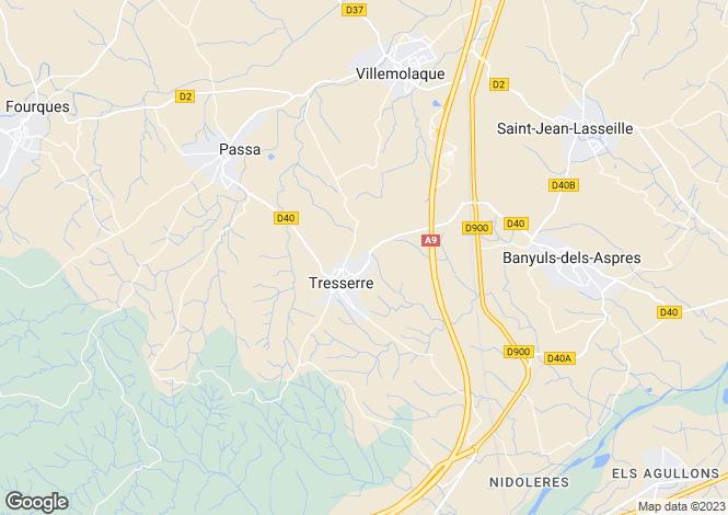 Map for tresserre, Pyrénées-Orientales, France