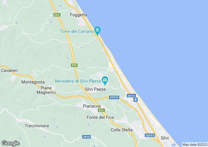 Map for Abruzzo, Teramo,Silvi Alta