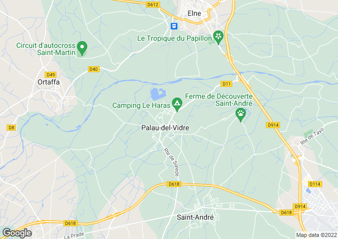 Map for Palau Del Vidre, Pyrenees-Orientales, 66690, France