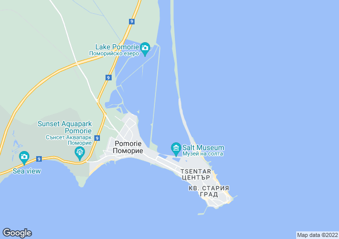 Map for Pomorie, Burgas