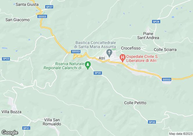 Map for Abruzzo, Teramo, Atri
