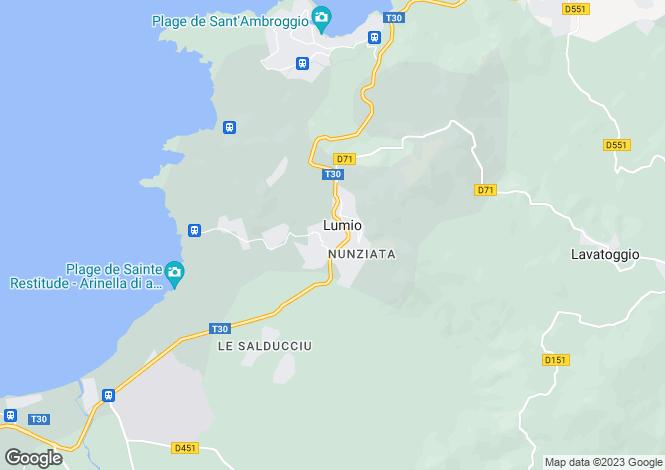 Map for Lumio, Corsica