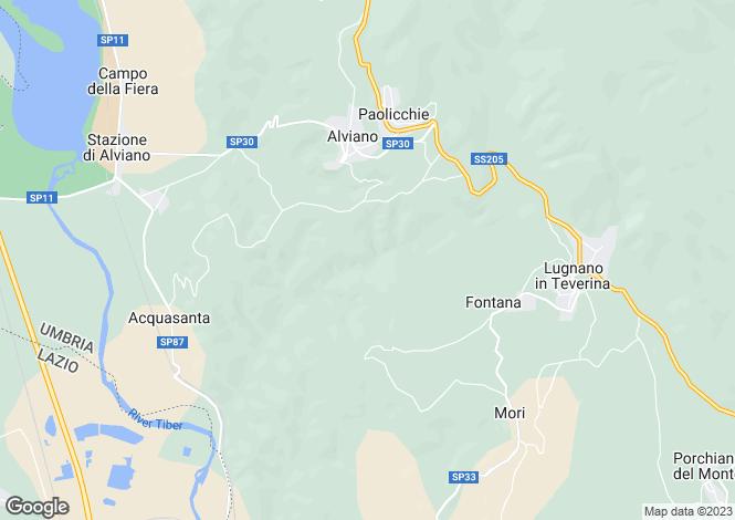 Map for Umbria, Terni, Alviano