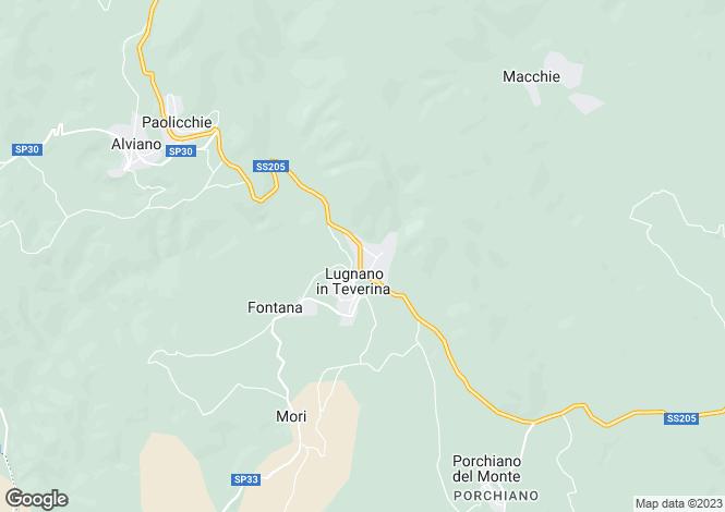 Map for Palazzo Luna, Lugnano, Umbria, Italy