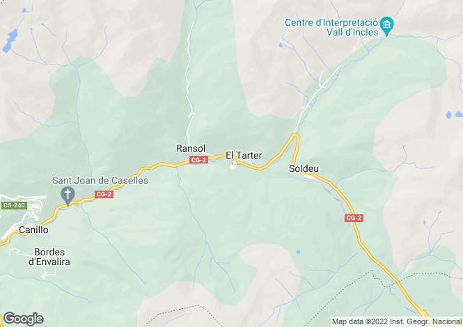 Map for Canillo