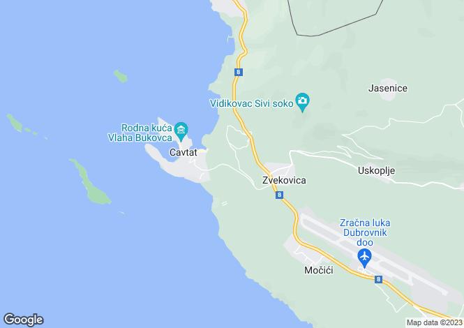 Map for Cavtat, Dubrovnik-Neretva, Croatia