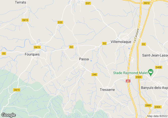 Map for Passa, Languedoc-Roussillon, 66300, France