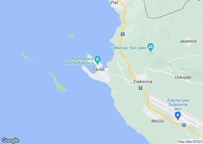 Map for Apartment With Sea View, Cavtat, Dubrovnik-Neretva, Croatia