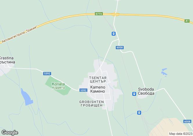 Map for Kameno, Burgas