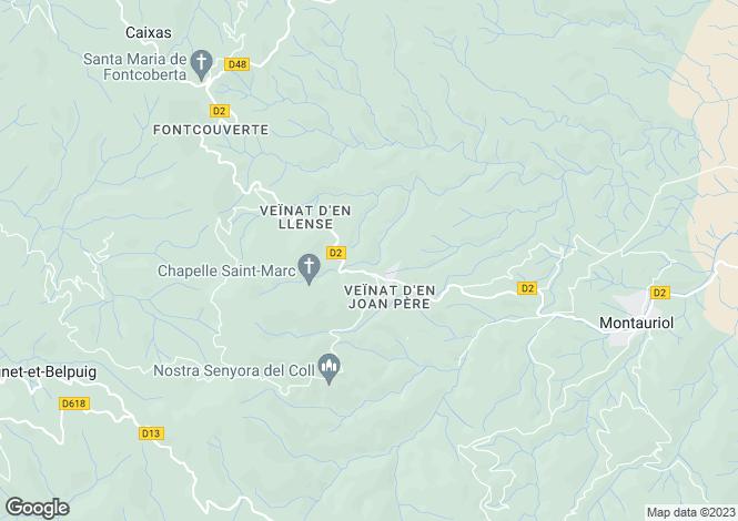 Map for Caixas, Pyrénées-Orientales, Languedoc-Roussillon