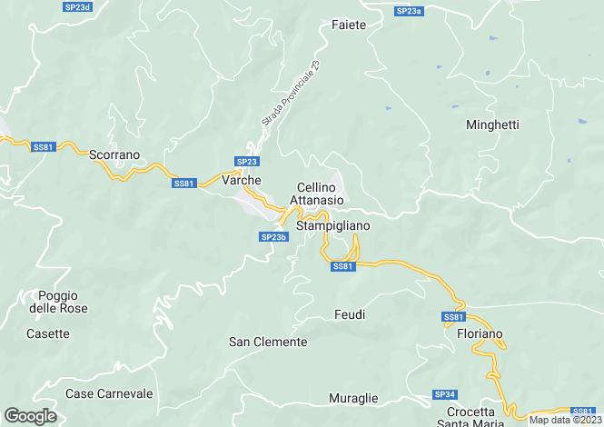 Map for Abruzzo, Teramo, Cellino Attanasio