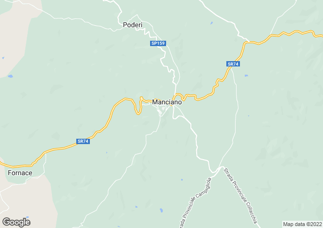 Map for Manciano, Grosseto, Tuscany