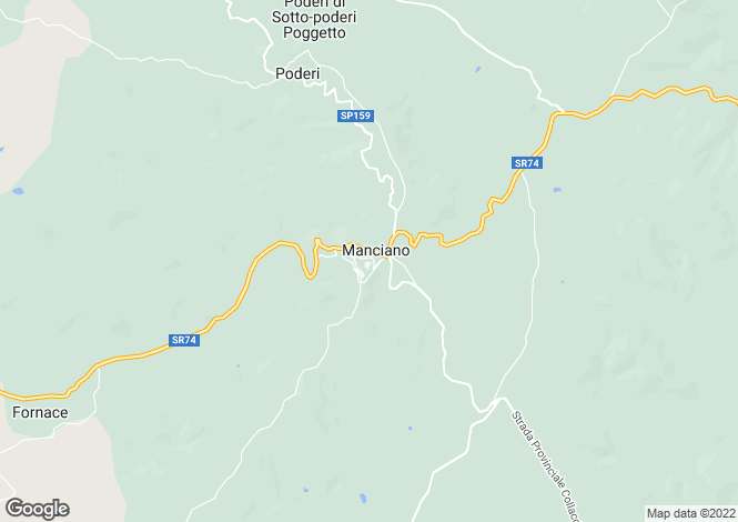 Map for s.s. 74, Manciano, Tuscany
