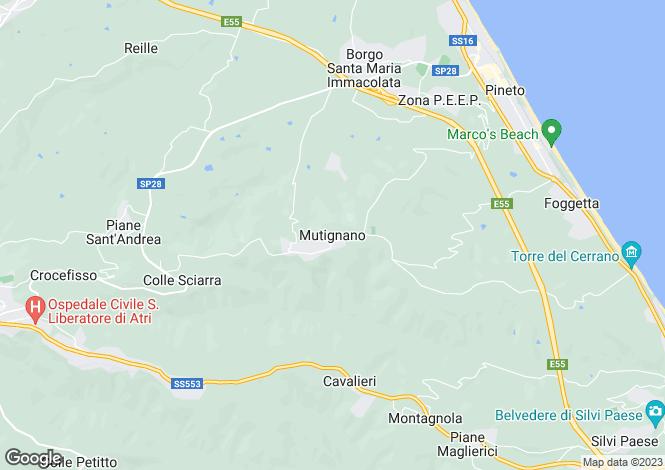 Map for Abruzzo, Teramo, Mutignano
