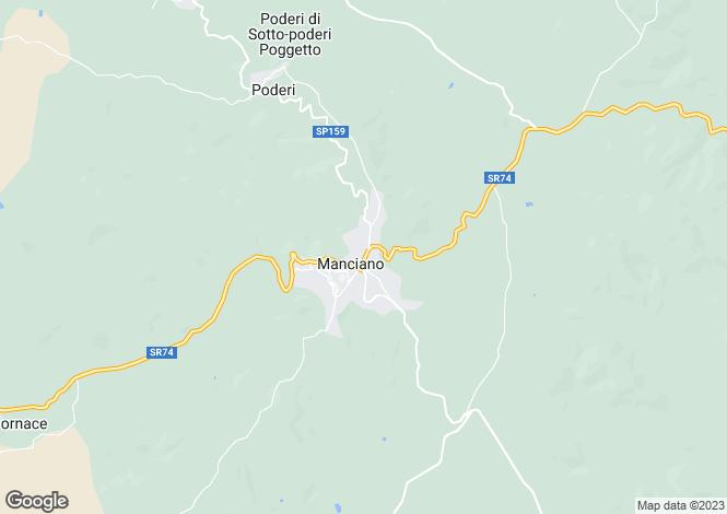 Map for Tuscany, Grosseto, Manciano