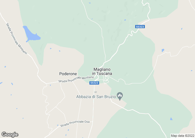 Map for SS323, Magliano in Toscana, Tuscany