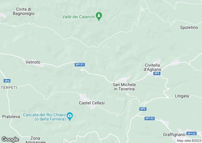 Map for Lazio, Viterbo, Civitella d`Agliano