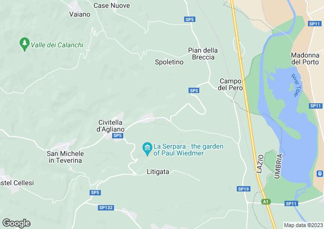 Map for Civitella d`Agliano, Viterbo, Lazio